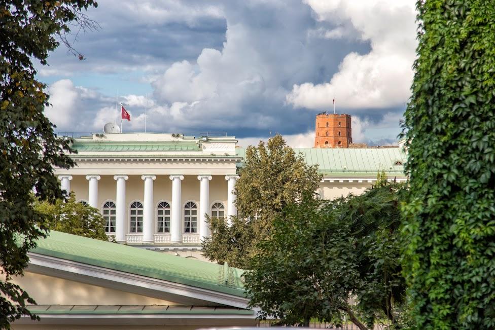 Wilno, ogrody, Pałac Prezydencki