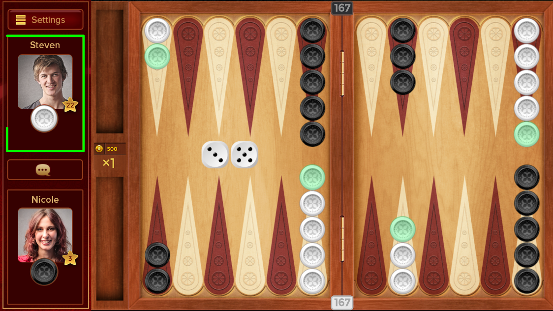 Backgammon Against Real Player