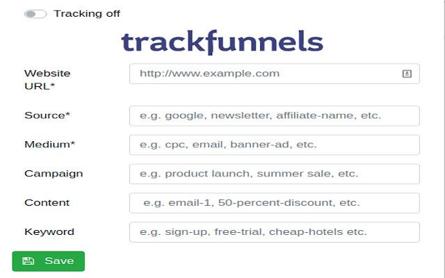 TrackFunnels-Google Analytics UTM URL Builder