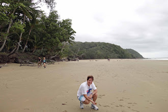 Photo: Lynn, Cow Bay beach, north of the Daintree river.