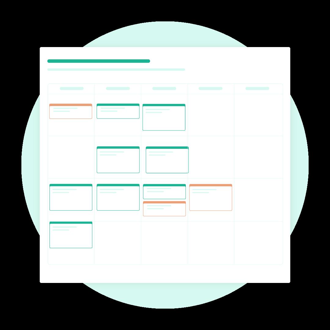 An example calendar for Nutrium's nutrition software