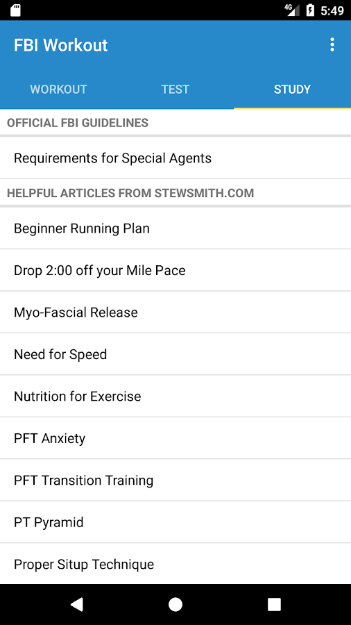 FBI Workout with Stew Smith- screenshot