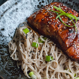 Teriyaki Salmon with Soba Noodles