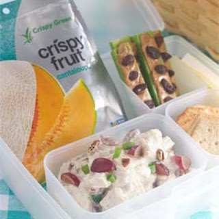 Easy Picnic Bento Box with Greek Yogurt Chicken Salad.