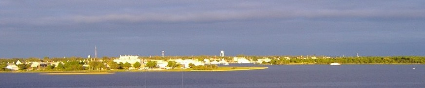 Photo: Sunset lights up the town of Beaufort
