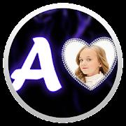 Neon Alphabet Photo Frame
