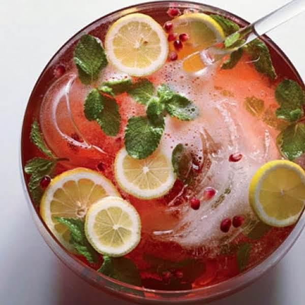 Pomegranate Champagne Punch Recipe
