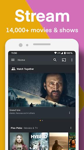 Plex: Stream Free Movies, Shows, Live TV & more modavailable screenshots 1