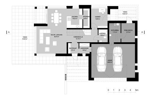 New House 9 - Rzut parteru