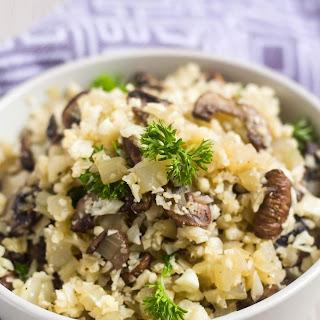 Mushroom Cauliflower Rice.
