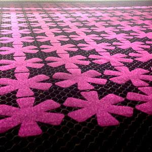 laser cut fabric flowers