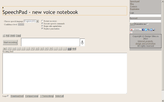 SpeechPad - new voice notebook