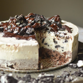 Frozen Chocolate Oreo Ice Cream Cake.