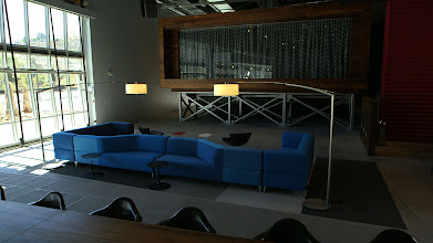 Photo: The lobby and communal reception area at YouTube Space LA