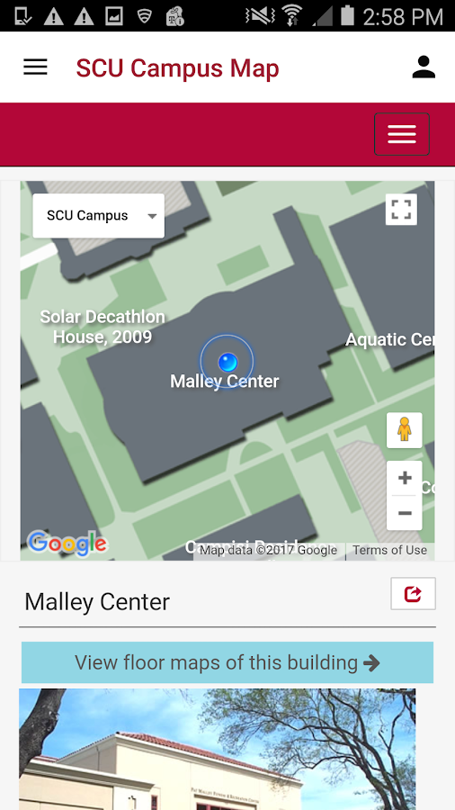 Santa Clara University Mobile- screenshot