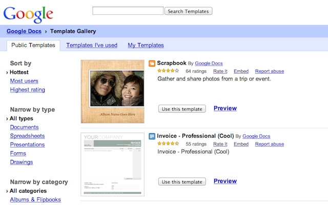 ... drive create menu you can use the google drive template gallery to