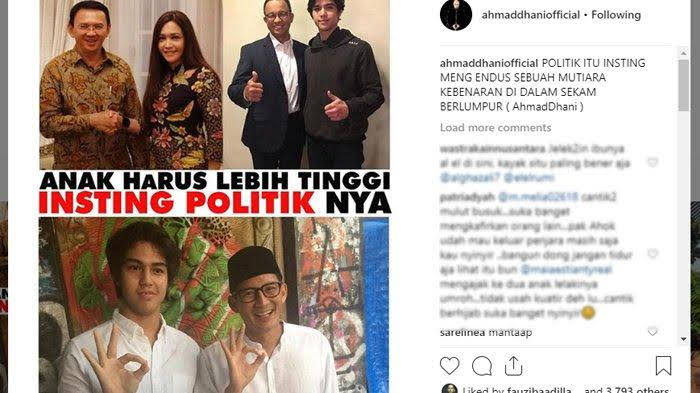 akun instagram Ahmad Dhani