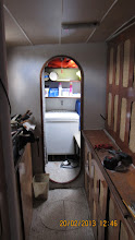 Photo: Look through Port Hull Workshop to Laundry forward cabin