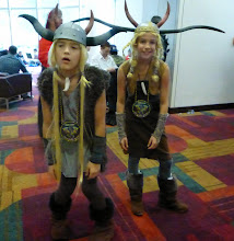 Photo: Some great Tuffnut and Ruffnut cosplay kids.  They nailed the characters attitudes.