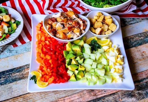 Slow Cooker BBQ Chicken Chopped Salad