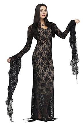 Morticia, klänning deluxe