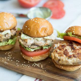 Tuna Burger Sliders with Wasabi Mayo