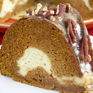 Pumpkin Cream Cheese Maple Glazed Bundt Cake [Vegan]