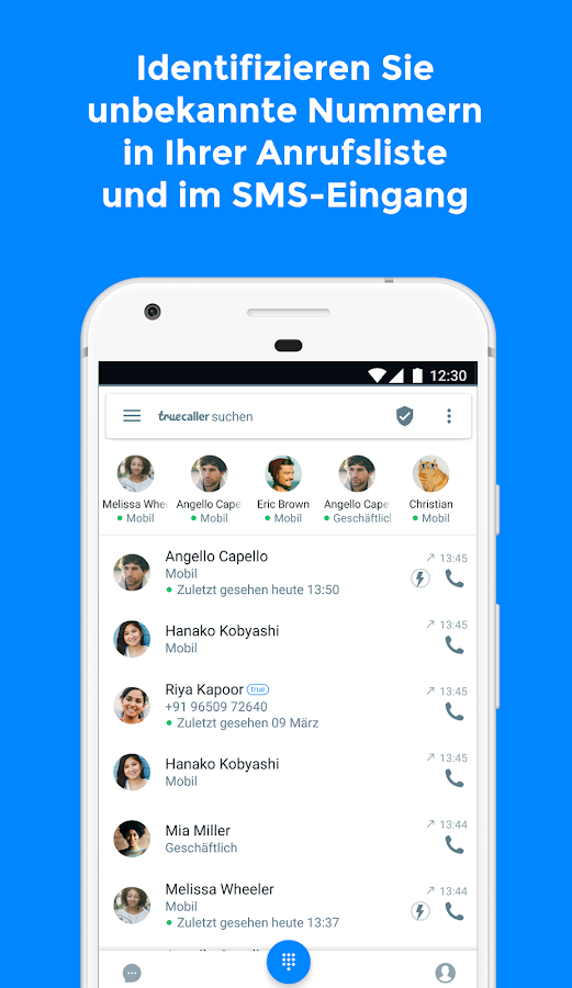 Truecaller - Anrufer ID – Screenshot