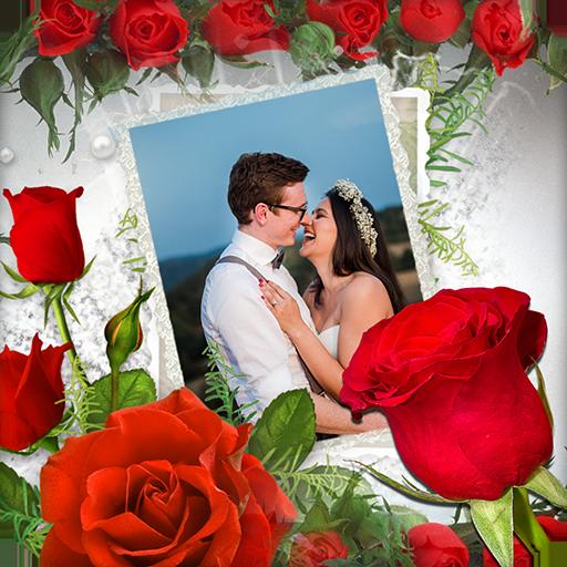 Rose Flower Photo Frame