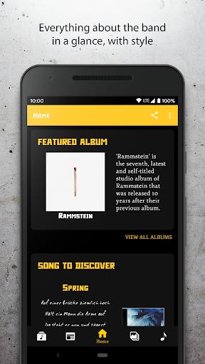 Rammstein Unofficial Fan App ss1