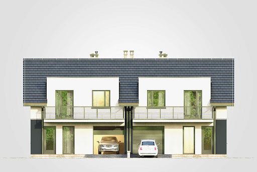 Double House - Elewacja przednia