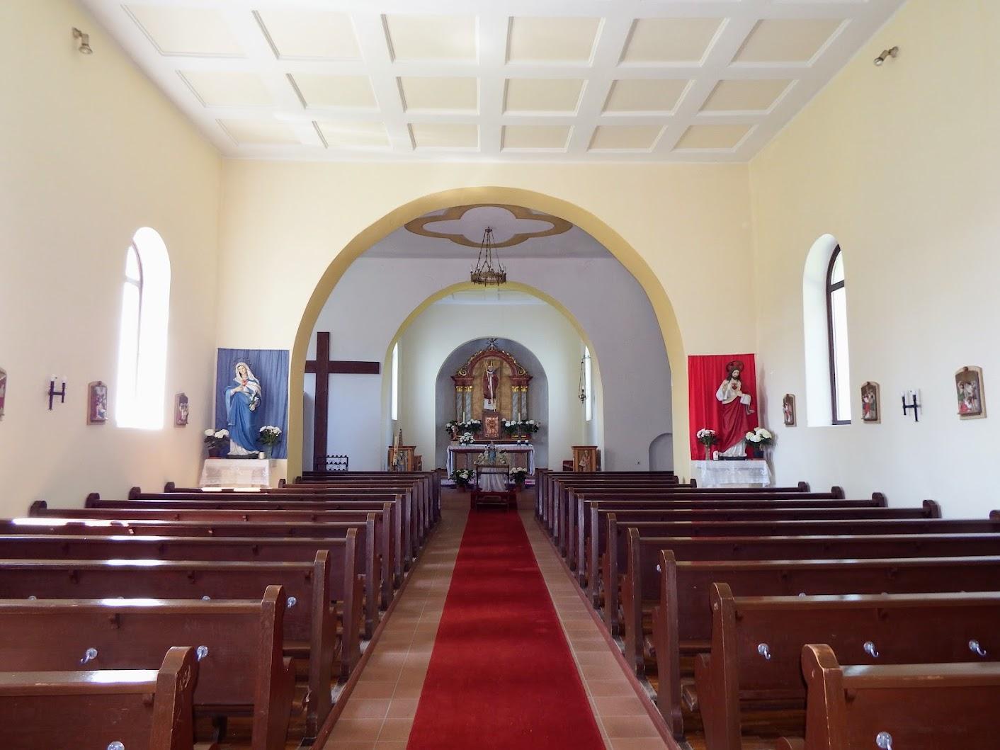 Rábagyarmat - Jézus Szíve és Szent Lambert rk. templom, templombelső