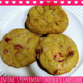 Valentine's Peppermint Chocolate Chip Cookies