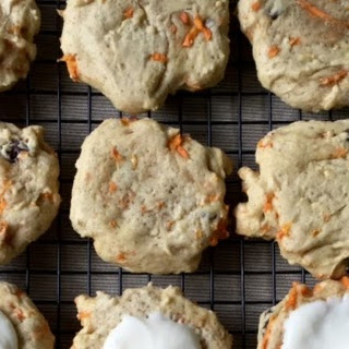 Carrot Cake Cookies with Cream Cheese Frosting.