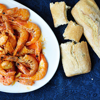 Garlic and hot pepper prawns (Gambas Al Ajillo)