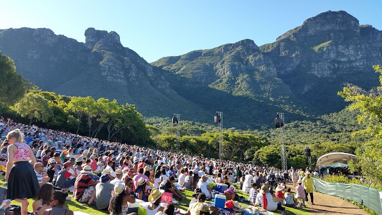Having a good time: Music lovers  at Kirstenbosch Gardens.  Picture: SUPPLIED