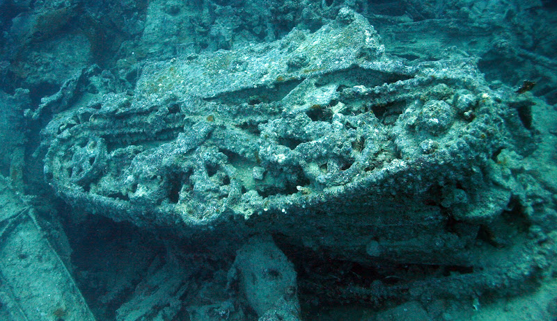 Photo: British tank lying on the seabed at 37m metres - blown clear of the SS Thistlegorm