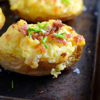 Cheesy Twice Baked Potatoes.