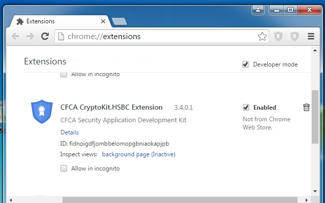 CFCA CryptoKit.HSBC Extension