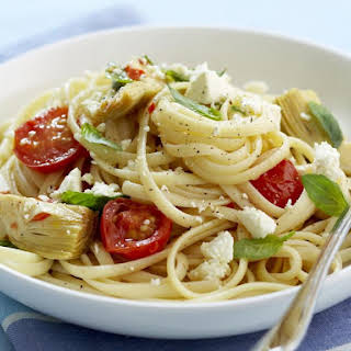 Fettuccine with Artichokes and Tomatoes.