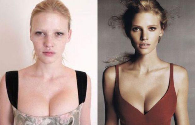 Ünlü Modellerin Makyajsız Halleri - Lara Stone