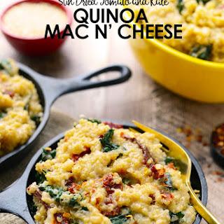 Sun Dried Tomato, Kale, and Quinoa Mac n Cheese.