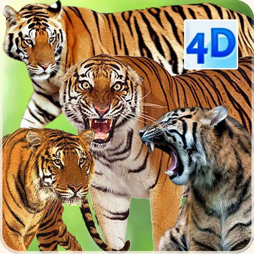 4D Tiger Live Wallpaper