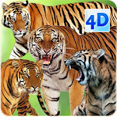 4D Tiger Live Wallpaper