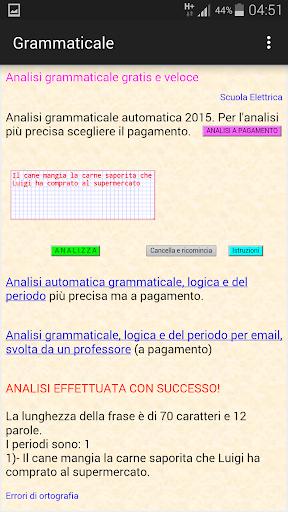 Android/PC/Windows 용 Analisi grammaticale italiana 앱 (apk) 무료 다운로드 screenshot