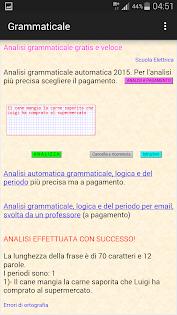 Analisi grammaticale italiana бағдарламалар (apk) Android/PC/Windows үшін тегін жүктеу screenshot