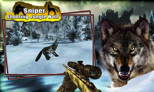 Sniper shooting Jungle Wolf