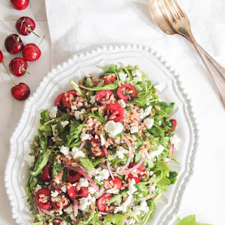 Arugula and Farro Salad with Cherries and Goat Cheese Recipe