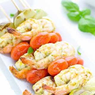 Easy Pesto Shrimp Skewers On The Grill