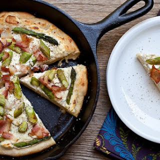 Asparagus Bacon And Goat Cheese Pizza